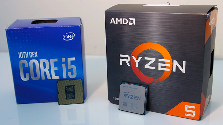 Intel i5-10600K, AMD Ryzen 5 5600X